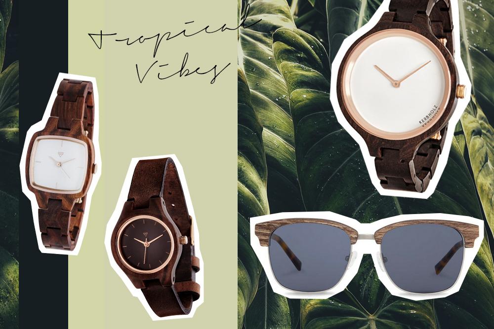 Kerbholz Eco Sonnenbrillen fair produziert Holz Uhren