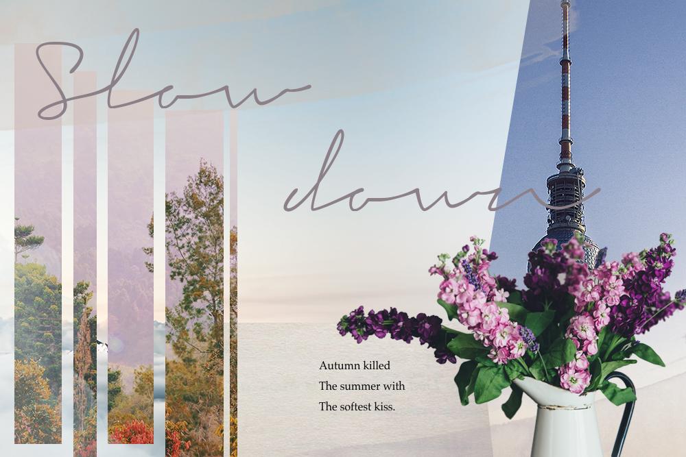 slow down collage photoshop fair fashion blog herbst modeblog faire kleidungsstücke für den herbst autumn inspiration